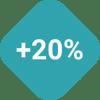 Plus 20% Icon